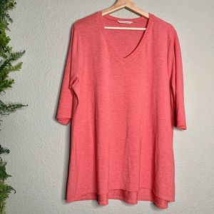 Soft Surroundings Malla Top Pink Plus Size 2X